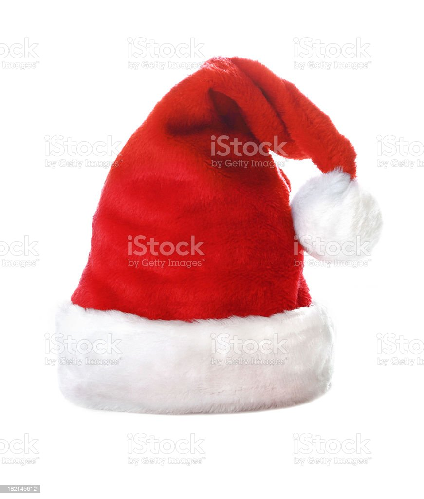 Christmas Hat on white royalty-free stock photo