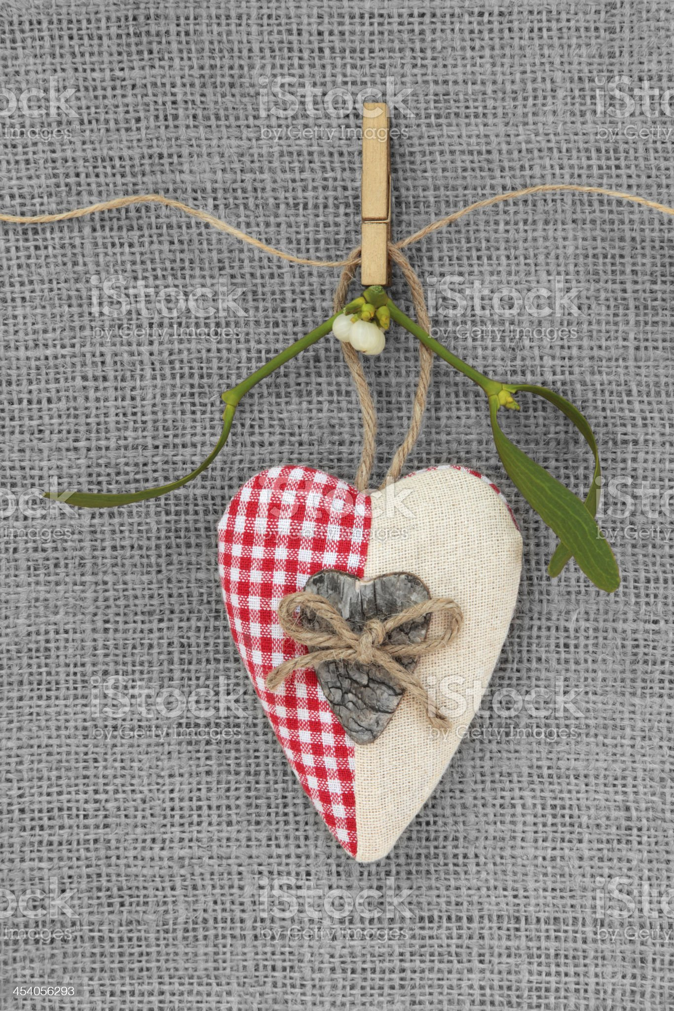 Christmas Heart Bauble royalty-free stock photo