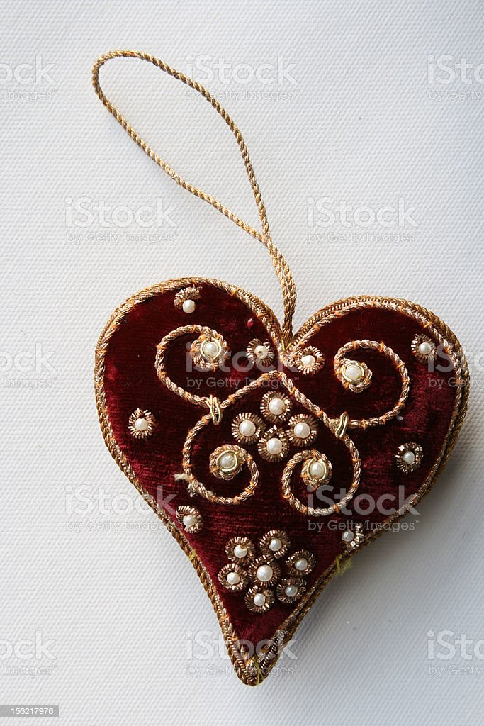 Christmas Heart Ornament stock photo