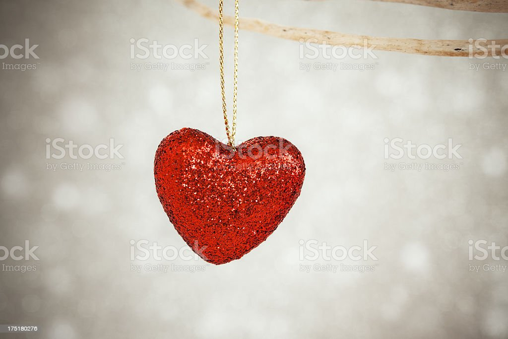 Christmas heart ornament royalty-free stock photo