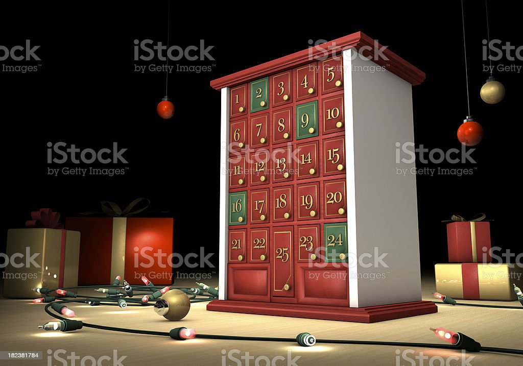 Christmas holiday advent calendar royalty-free stock photo