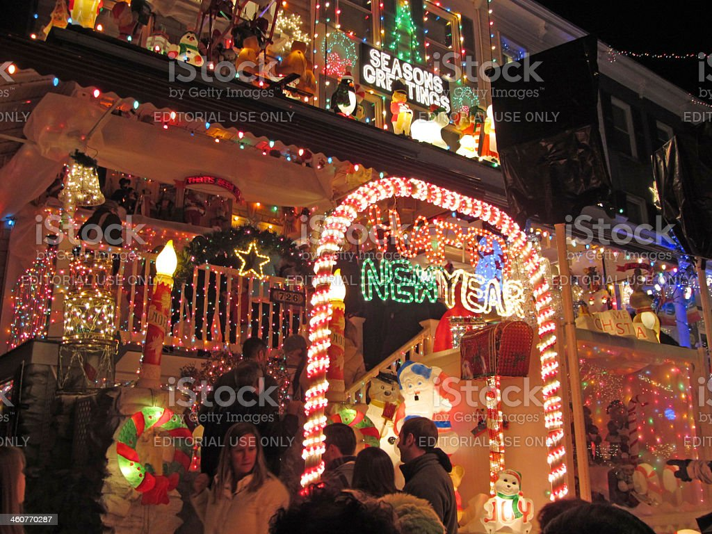 Christmas Holiday Celebration From 34th Street stock photo