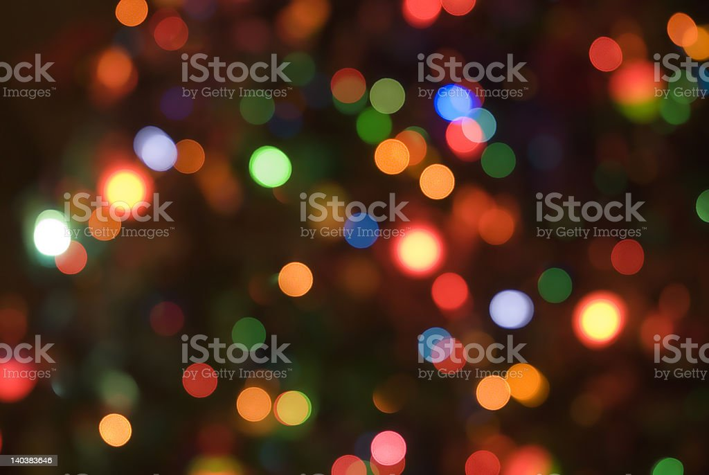 Christmas holiday lights soft focus background 03 stock photo