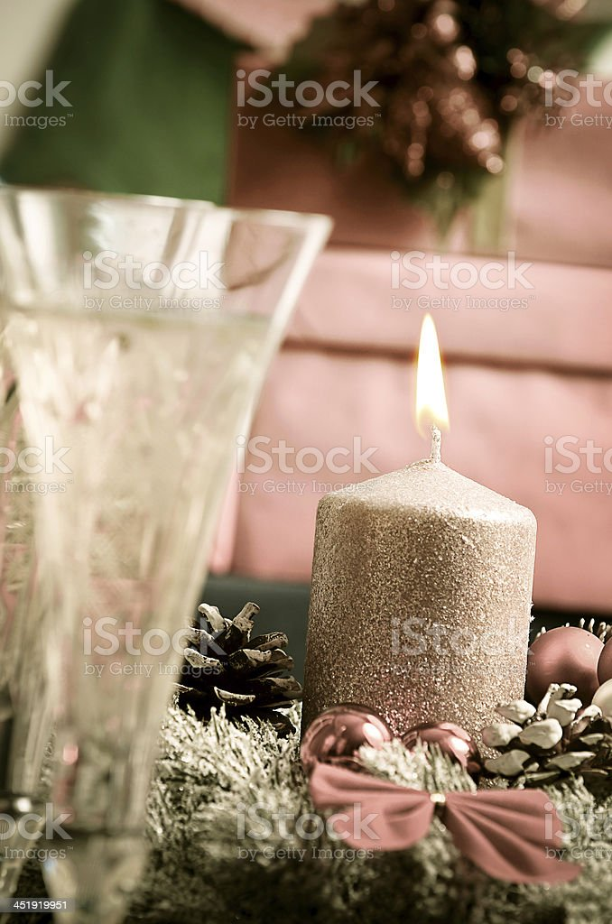 Christmas holiday with Christmas decoration and Christmas gifts royalty-free stock photo