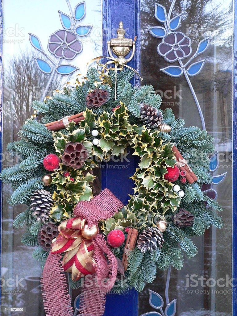 Christmas Holly Wreath royalty-free stock photo
