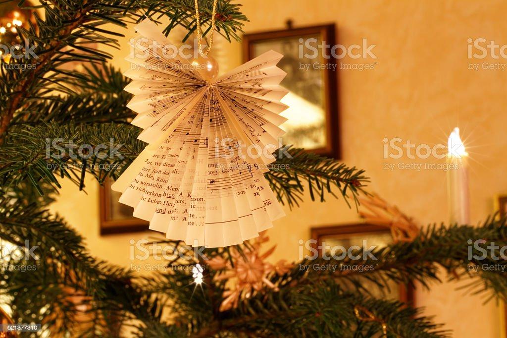 Christmas Home Impression with Christmas Tree Decoration stock photo