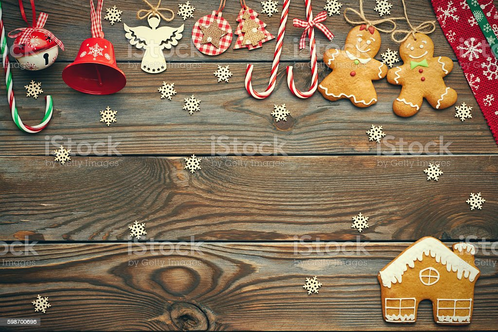 Christmas homemade decoration stock photo