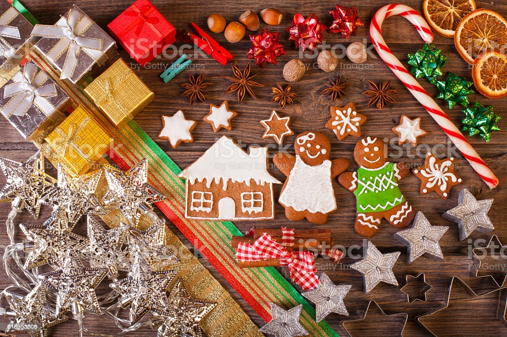 Christmas homemade decoration stock photo