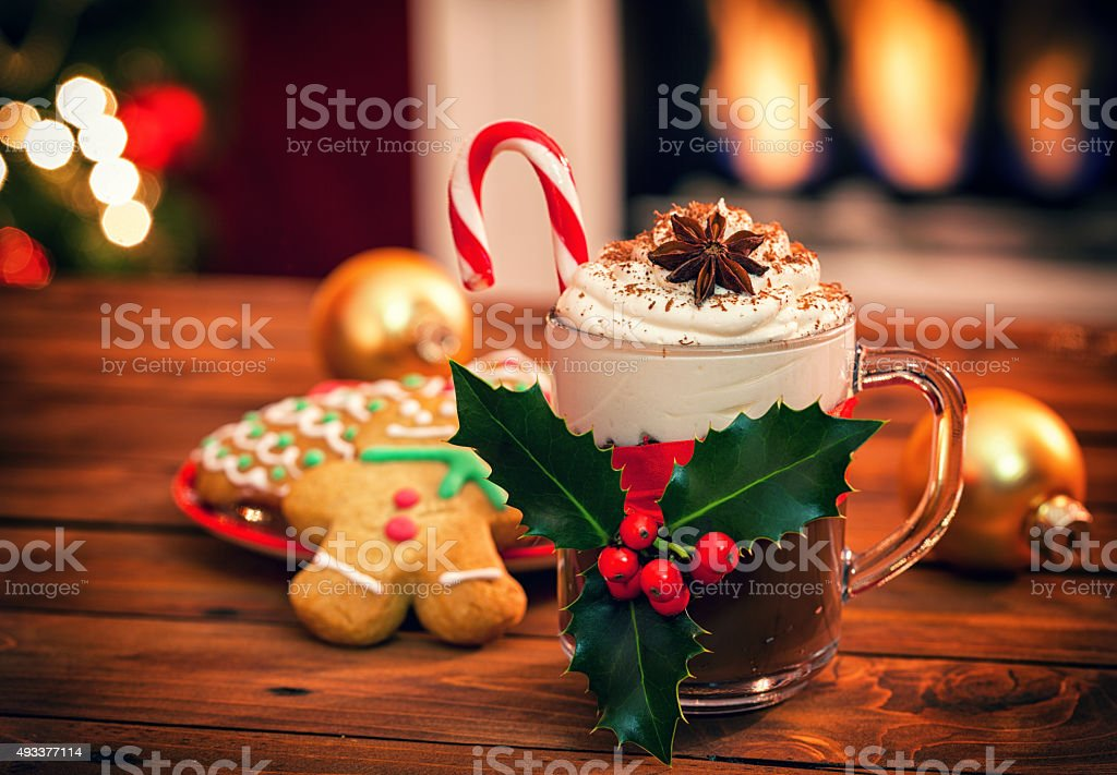 Christmas Hot Chocolate stock photo