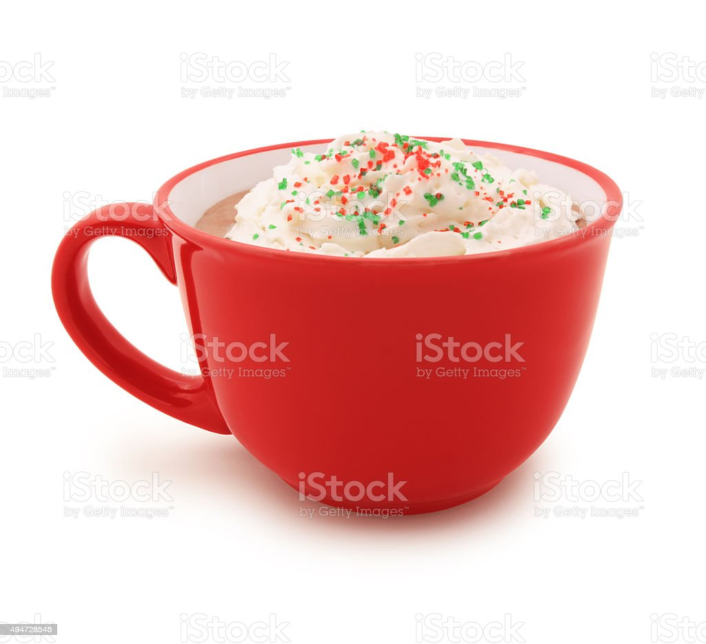 Christmas Hot Chocolate (with path) stock photo