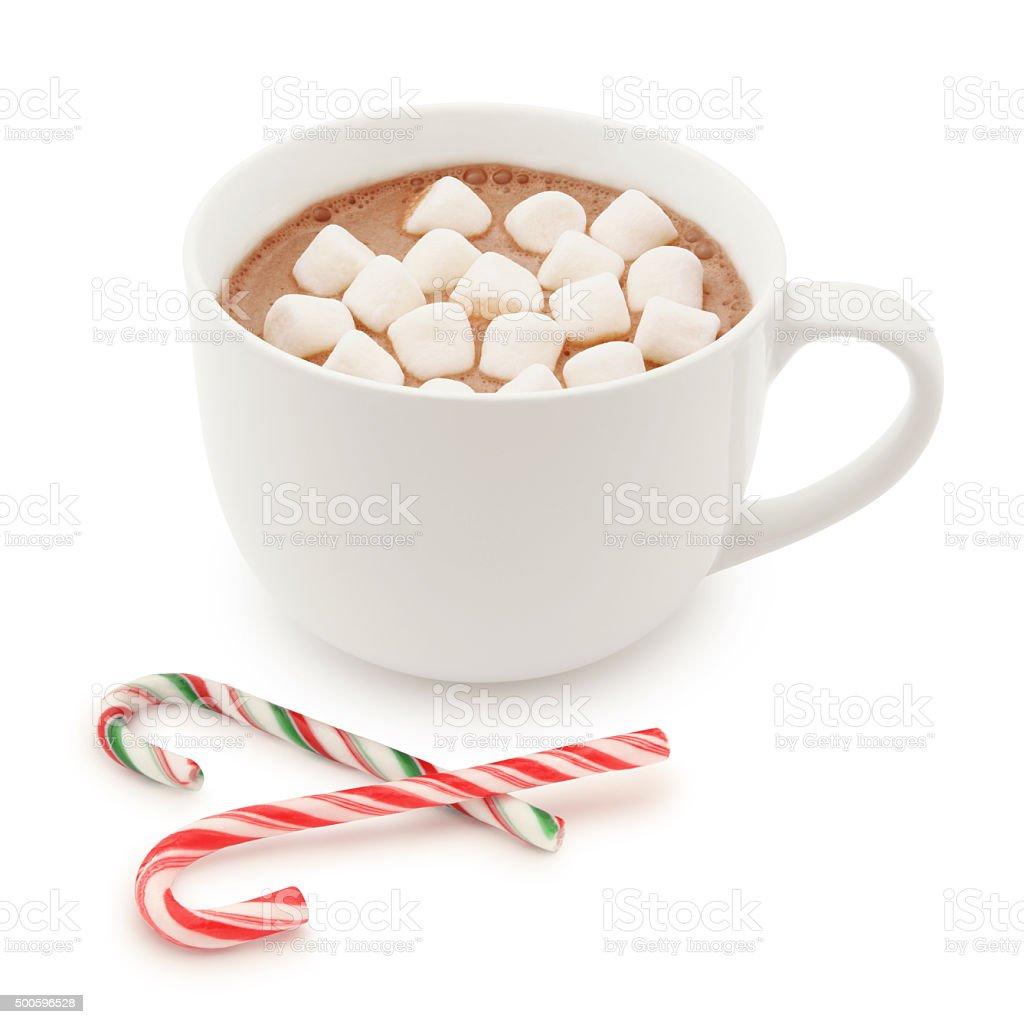 Christmas Hot Chocolate (with path) stock photo