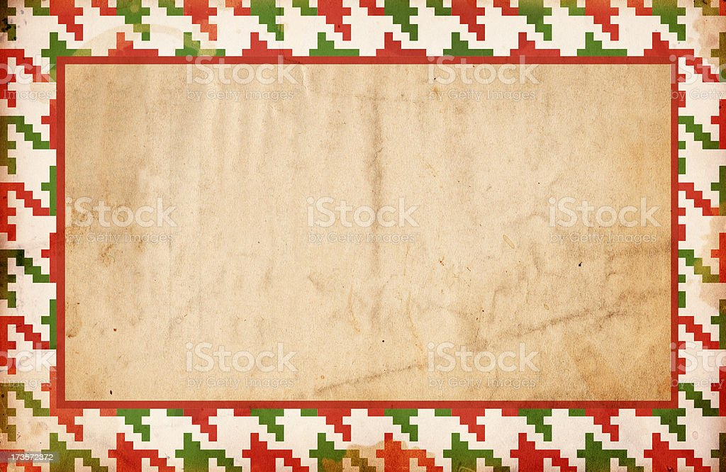 Christmas Houndstooth Paper XXXL royalty-free stock photo