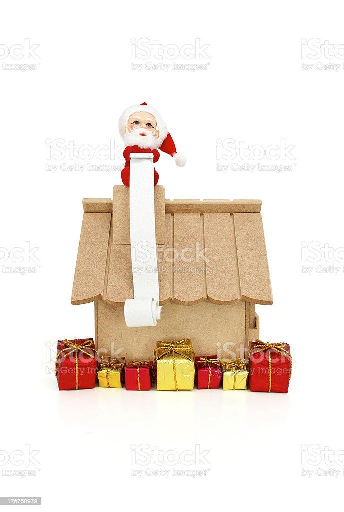 Christmas huge wish list royalty-free stock photo