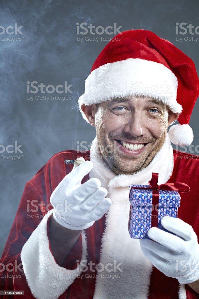 Christmas hysteria stock photo