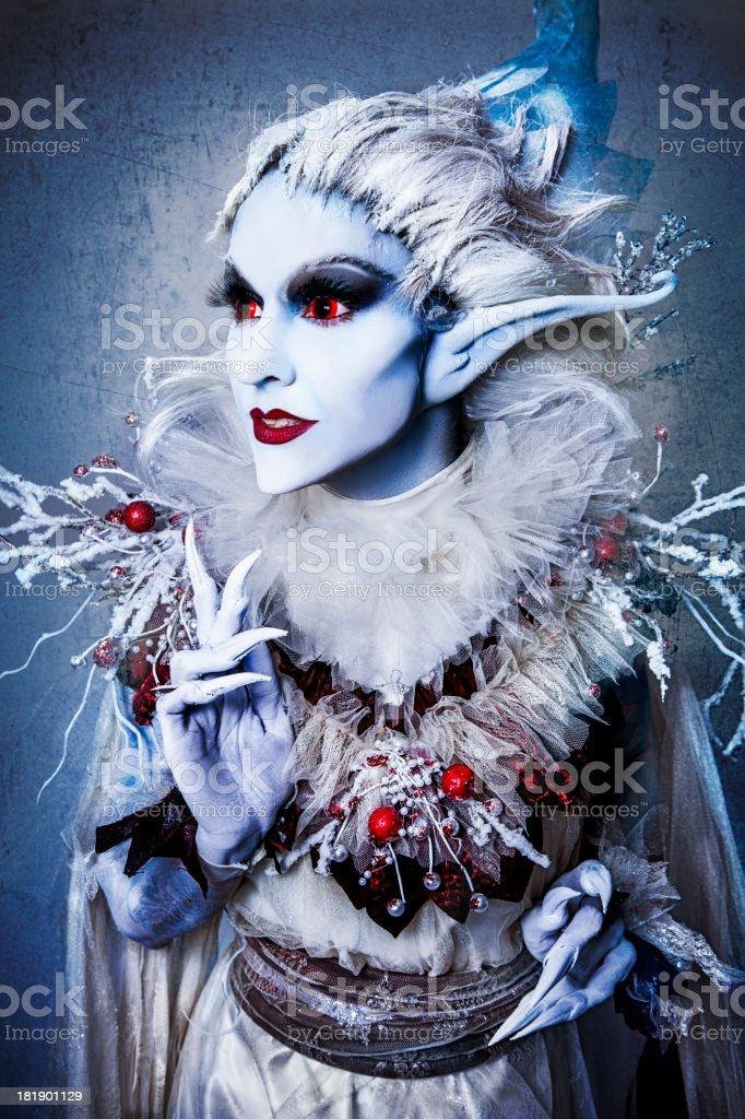 Christmas Ice Elf royalty-free stock photo