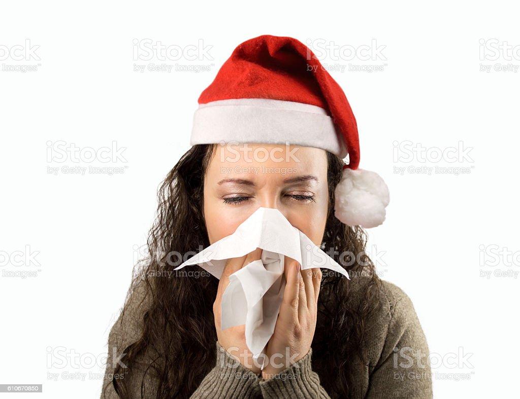 Christmas illness stock photo