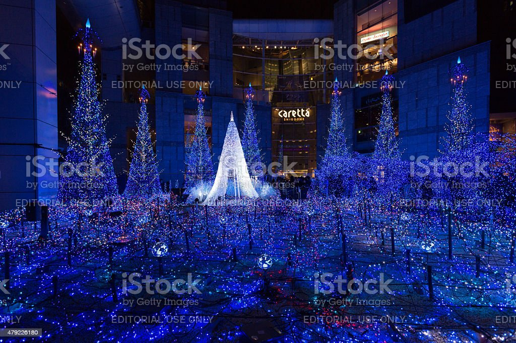 Christmas Illumination in Japan stock photo