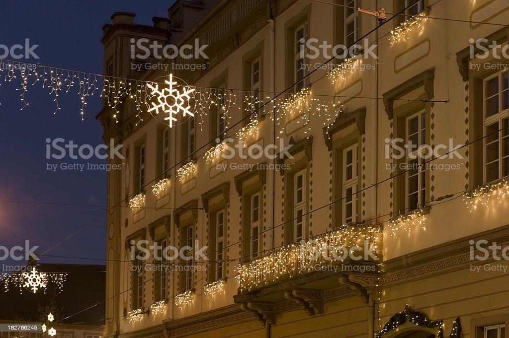 Christmas illumination lighting stock photo