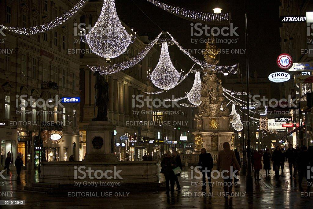 Christmas illuminations stock photo