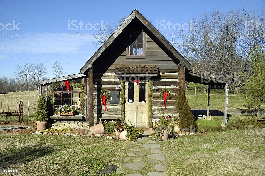 Christmas In a Very Small Town royalty-free stock photo