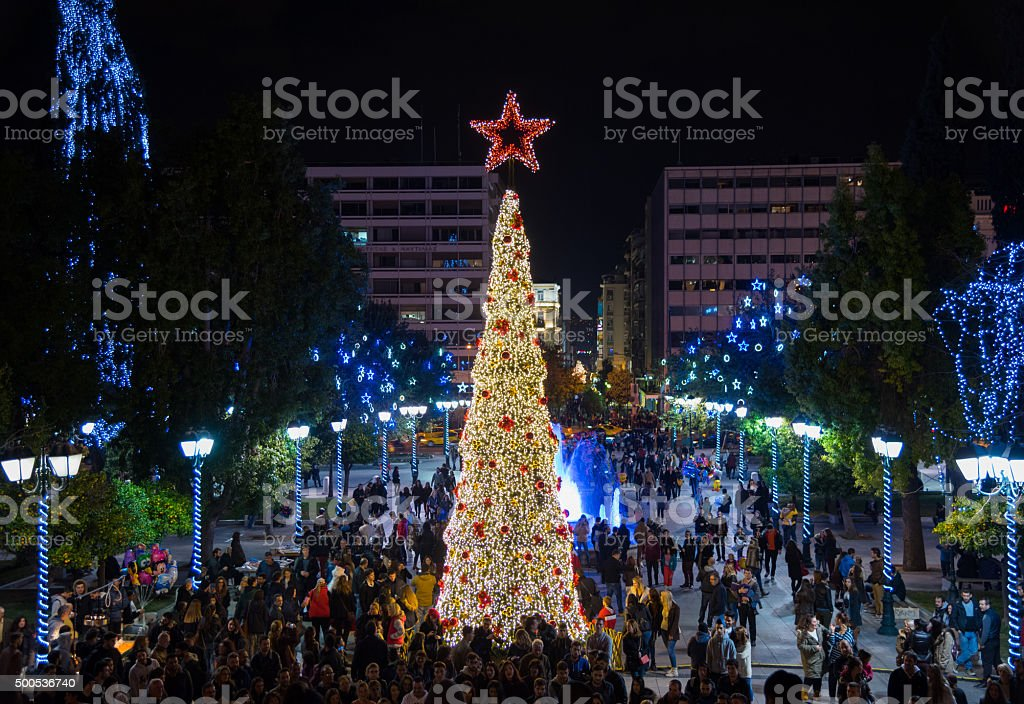 Christmas in Athens! stock photo
