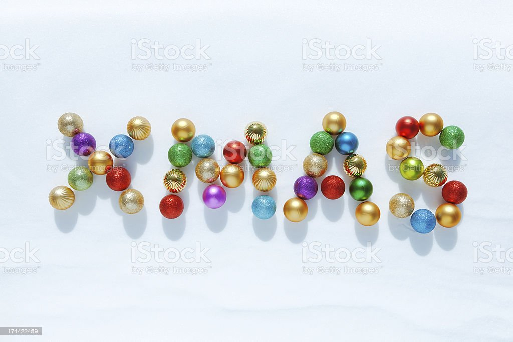 Christmas in Babbles on Winter Snow Horizontal royalty-free stock photo
