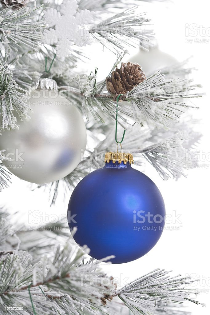 Christmas in Blue and White royalty-free stock photo