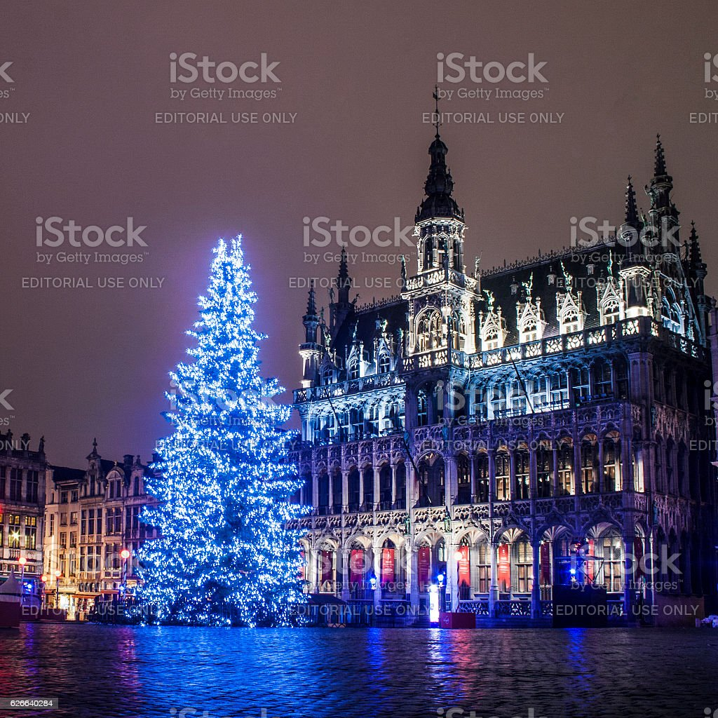 Christmas in Brussels stock photo