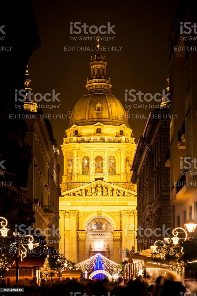 Christmas in Budapest stock photo
