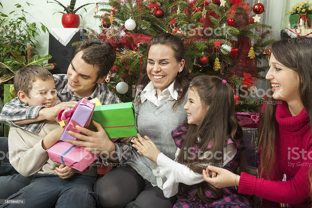 Christmas in family royalty-free stock photo