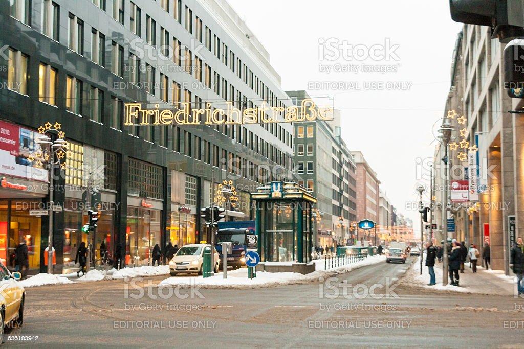 Christmas in Friedrichstrasse Berlin, Germany stock photo