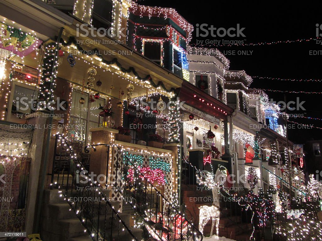 Christmas in Hampden Baltimore stock photo