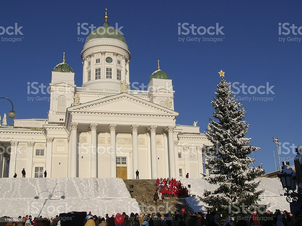Christmas in Helsinki royalty-free stock photo