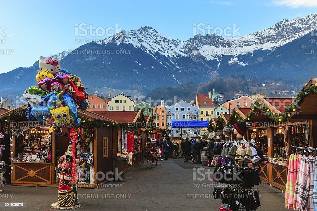 Christmas in Innsbruck, Austria stock photo