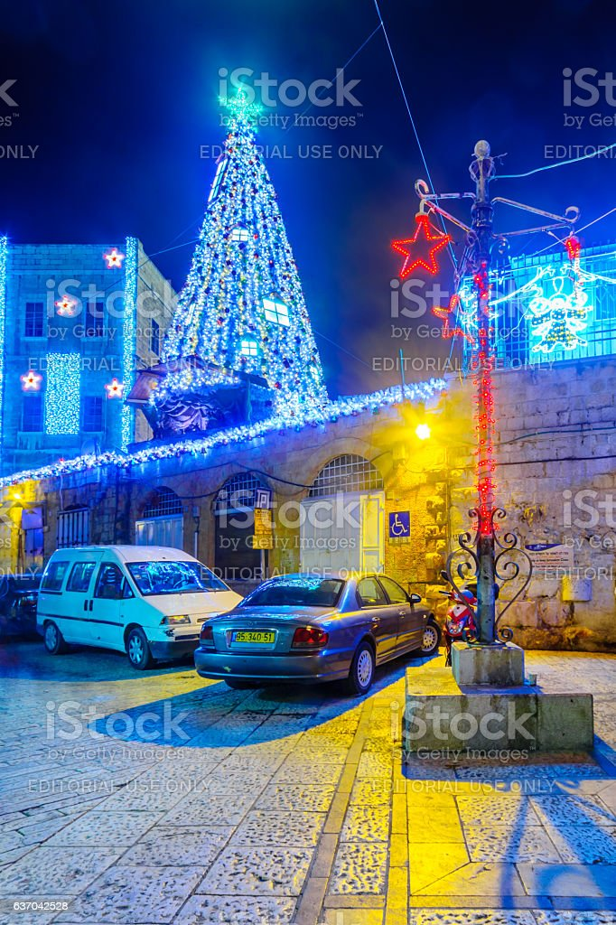 Christmas in Jerusalem Old City stock photo