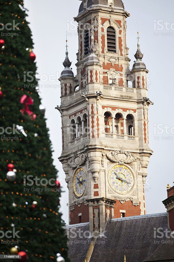 Christmas in Lille stock photo