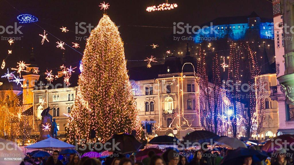 Christmas in Ljubljana stock photo