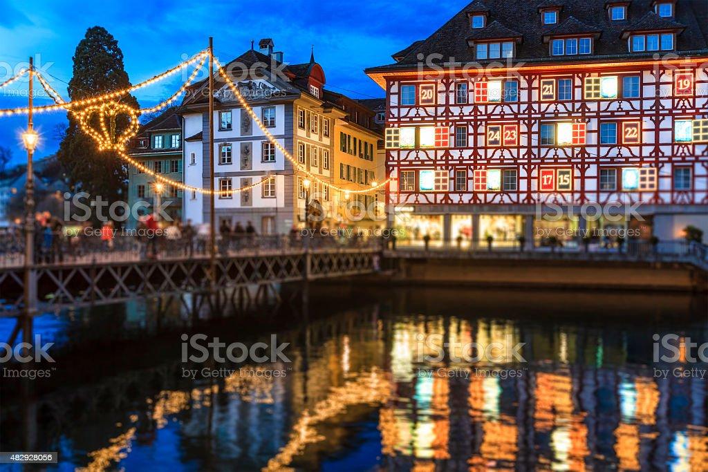 Christmas in Lucerne, Switzerland stock photo