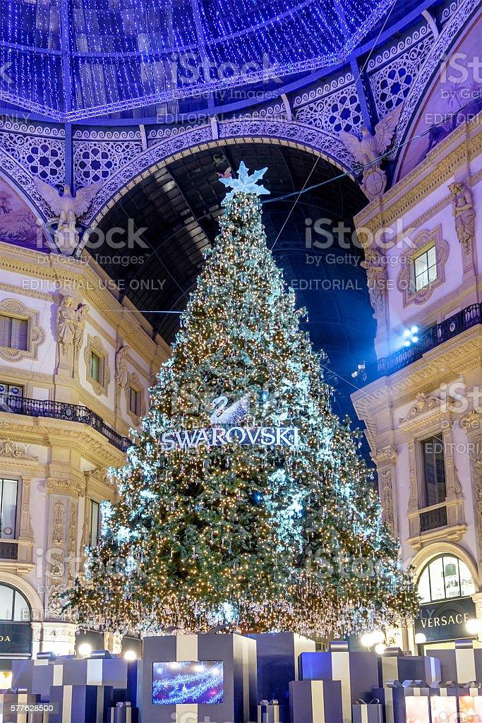 Christmas in Milan, Galleria Vittorio Emanele II - Italy stock photo