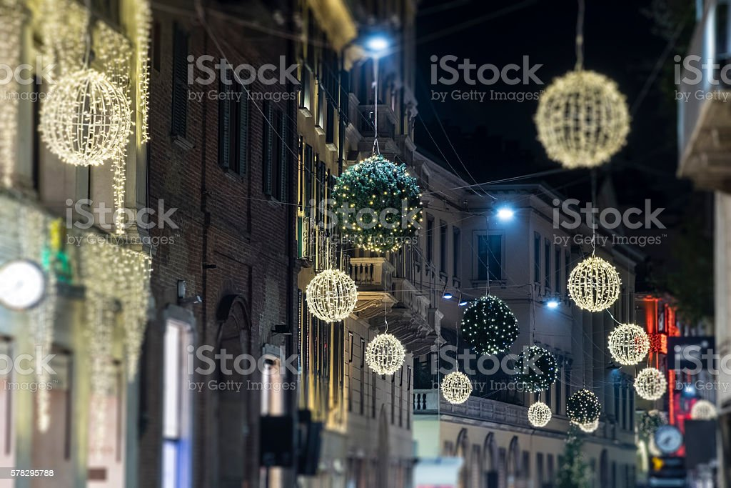 Christmas in Milan, Italy stock photo