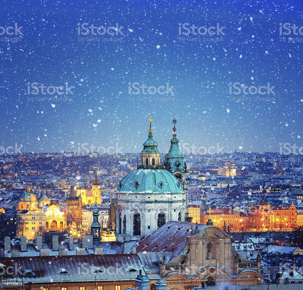 Christmas In Prague stock photo