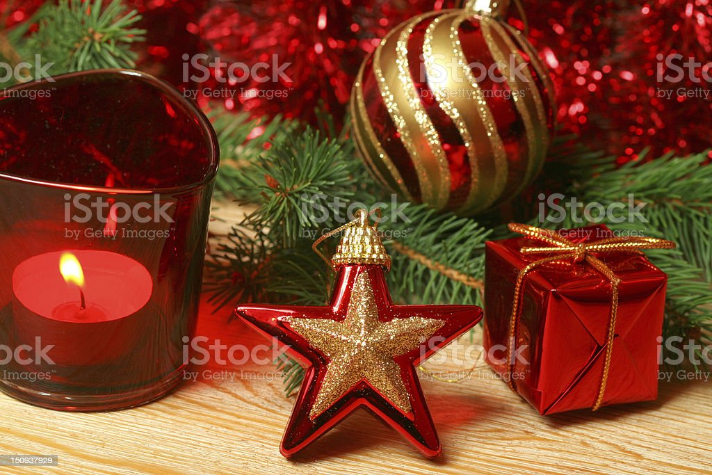 Christmas in red color royalty-free stock photo