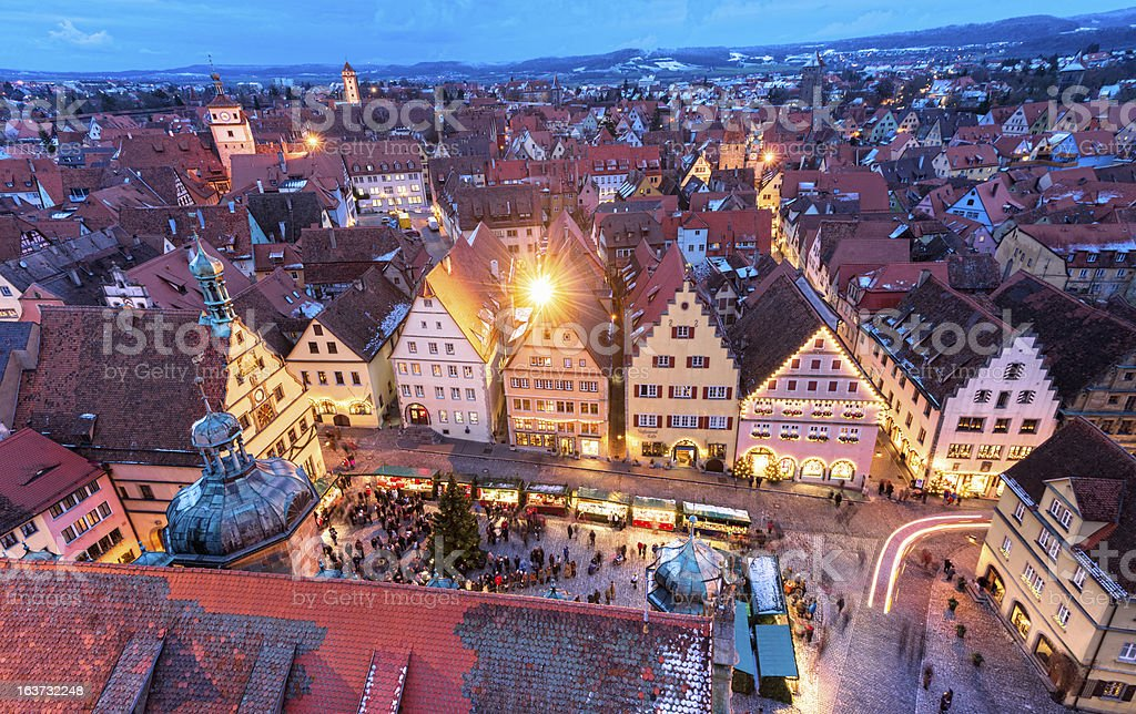Christmas in Rothenburg ob der Tauber stock photo