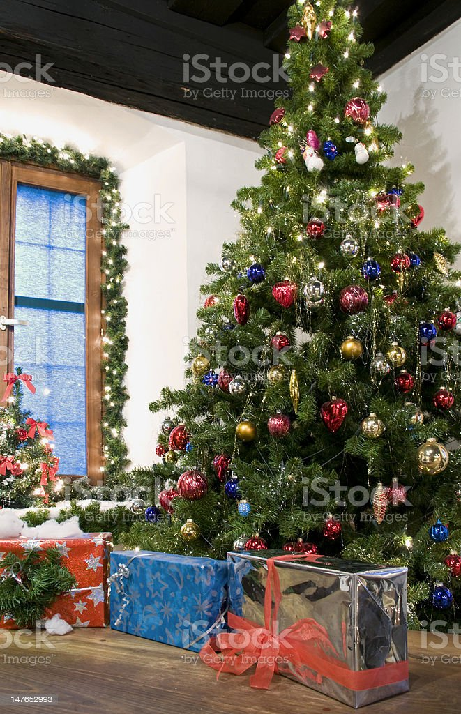 Christmas in Rural Style royalty-free stock photo