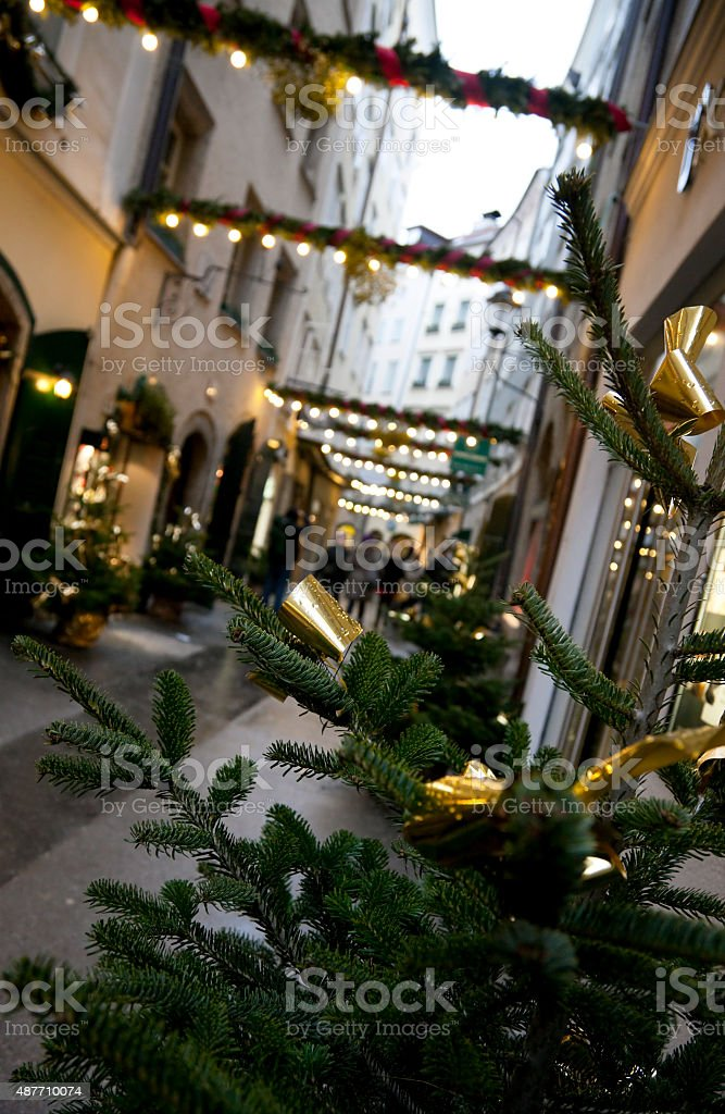 Christmas in Salzburg, Austria stock photo