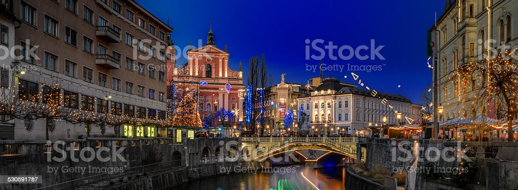 Christmas in Slovenija, Ljubljana stock photo