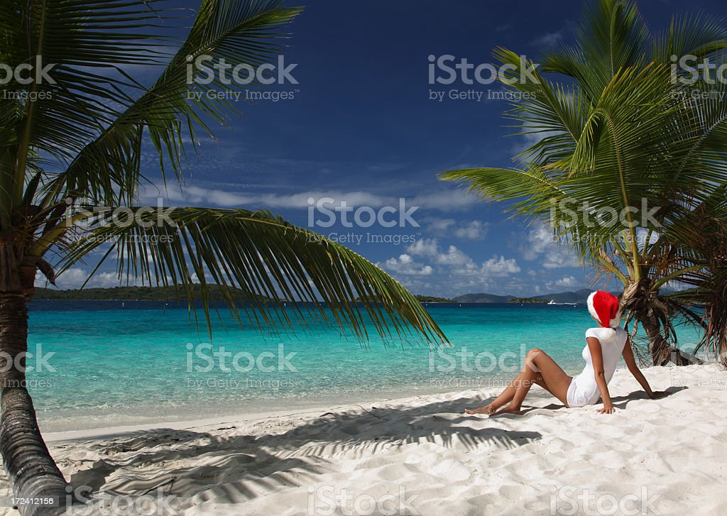 Christmas in the Caribbean royalty-free stock photo
