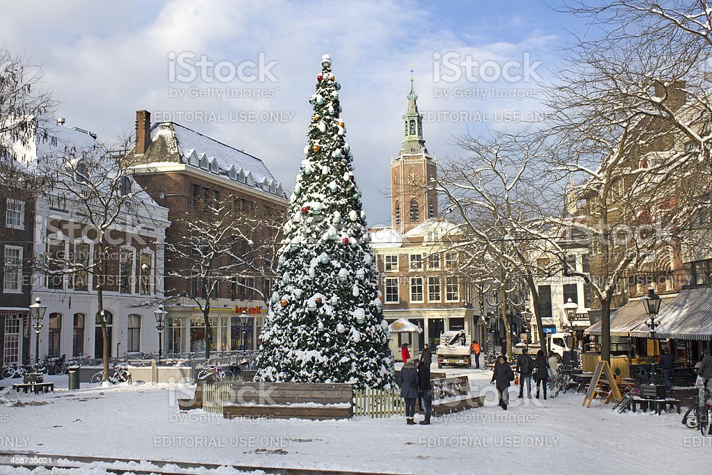Christmas in The Hague stock photo