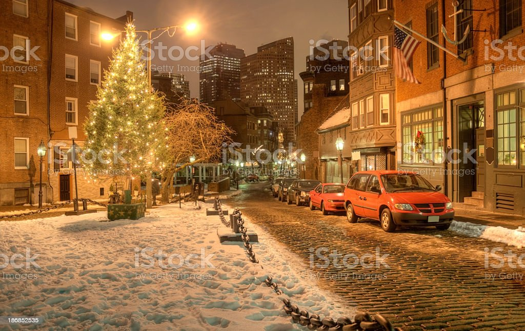 Christmas In the North End royalty-free stock photo