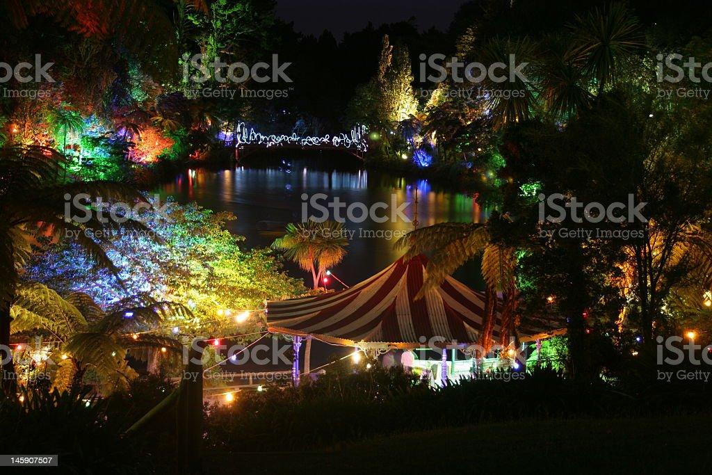 Christmas in the park stock photo